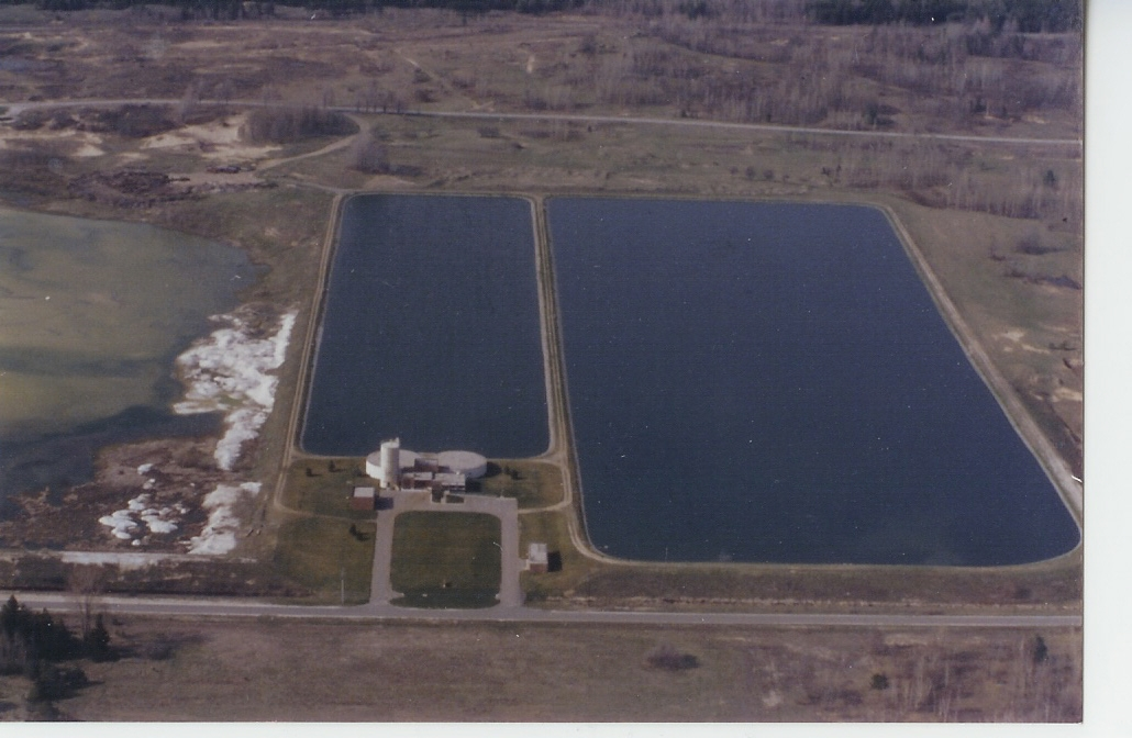 Waste Water Treatment Plant Aerial View